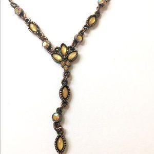 1928 Yellow Y Necklace